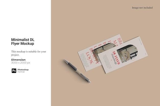 Maquete minimalista dl flyer