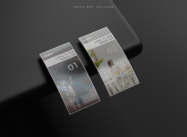 Maquete minimalista do flyer dl