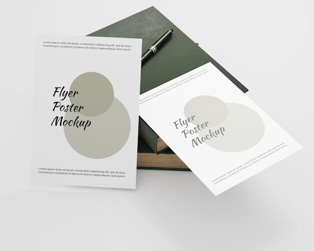 Maquete minimalista do panfleto do pôster
