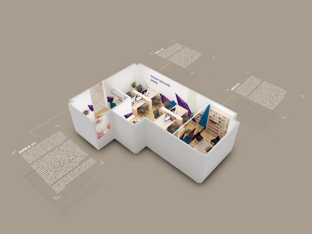 Maquete modelo de casa 3d