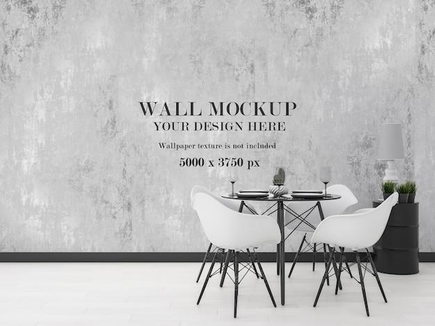Maquete moderna da parede da sala de jantar pronta para seu projeto