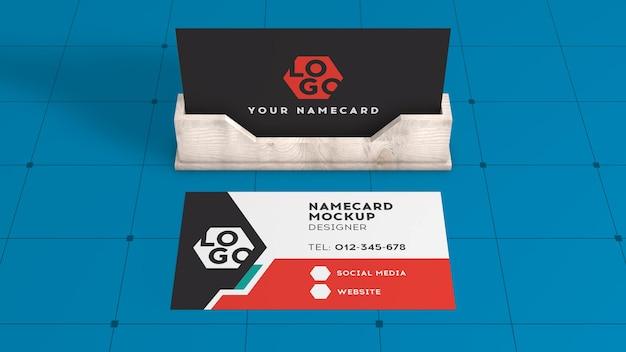Maquete moderna de cartão de visita renderização em 3d