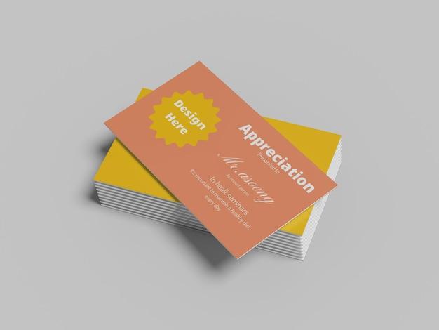 Maquete moderno do cartão de negócios