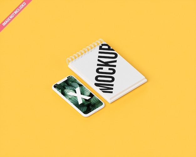 Maquete móvel com livro