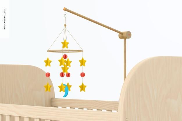 Maquete móvel do berço do bebê