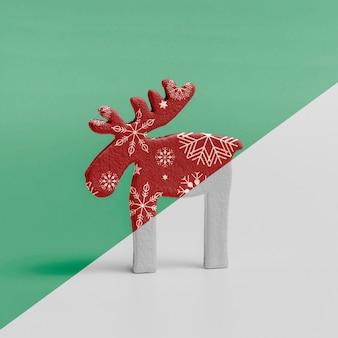 Maquete ornamental de rena de natal