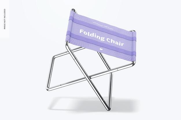 Maquete para cadeira dobrável, inclinada
