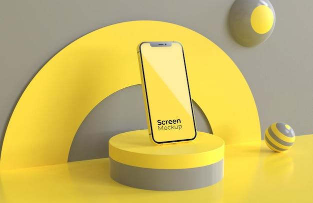 Maquete para celular com a cor do ano