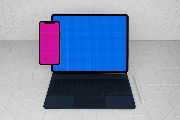 Maquete para celular e tablet