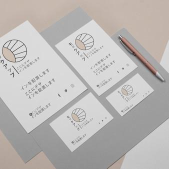 Maquete para empresa de negócios asiática