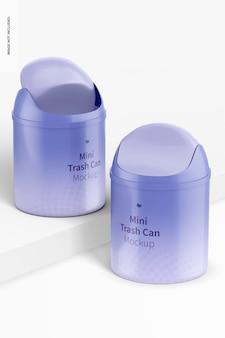 Maquete para latas de lixo