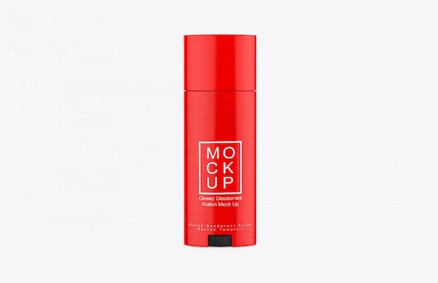 Maquete para roll-on desodorante brilhante realista