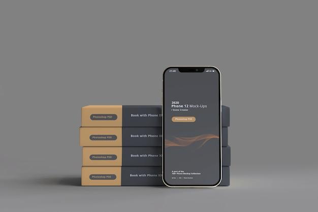 Maquete para smartphone com livro de capa dura