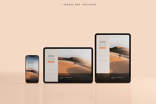 Maquete para smartphone e tablet