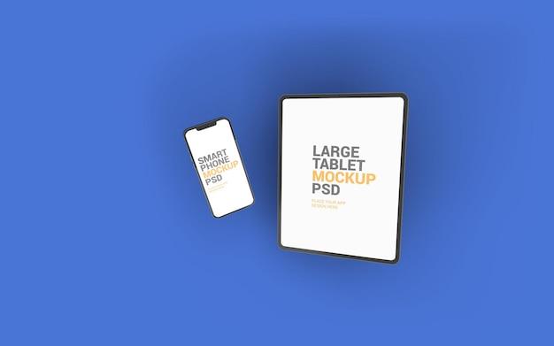 Maquete para tablet e smartphone
