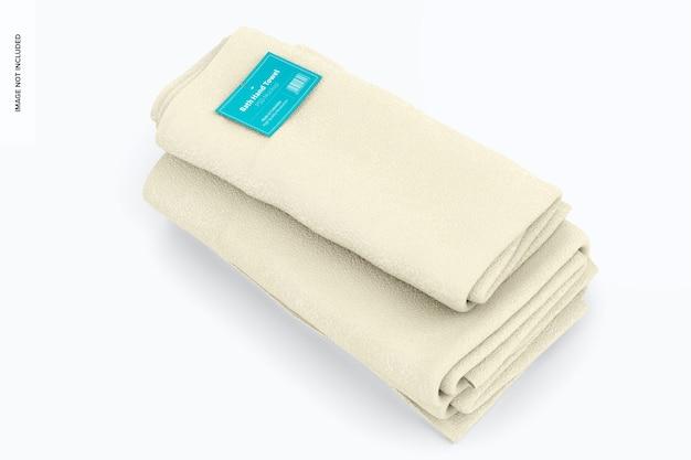 Maquete para toalhas de banho, empilhadas