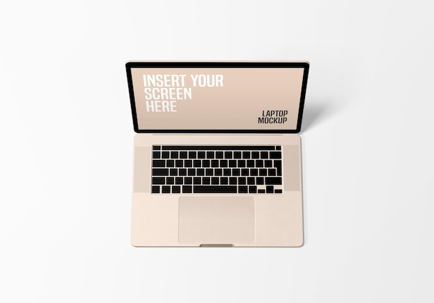 Maquete profissional de laptop em renderização 3d
