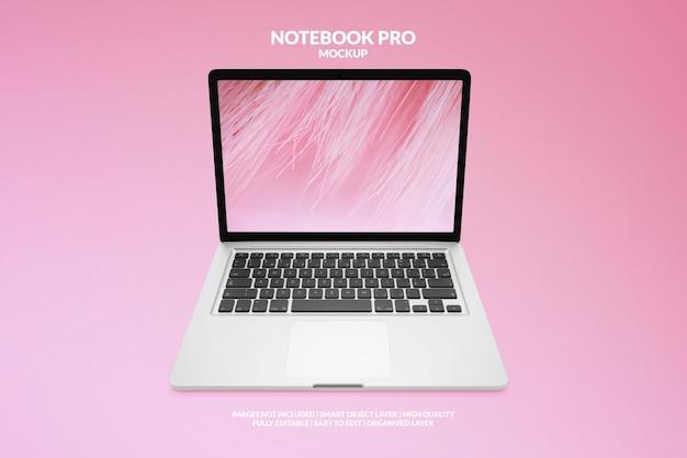 Maquete profissional de notebook premium realista