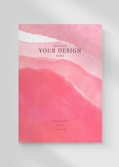 Maquete psd da capa do livro com ilustração vintage, remixada de ar