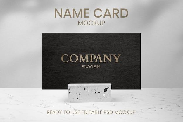 Maquete psd de cartão de visita de luxo com textura de papel