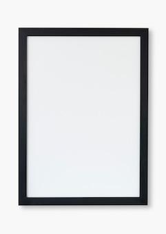 Maquete psd de moldura preta com espaço de design