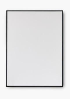 Maquete psd de moldura preta simples com espaço de design