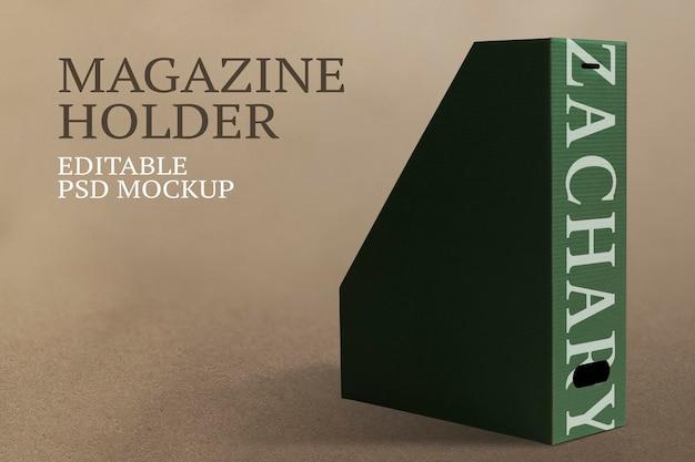 Maquete psd porta-revistas para material de escritório