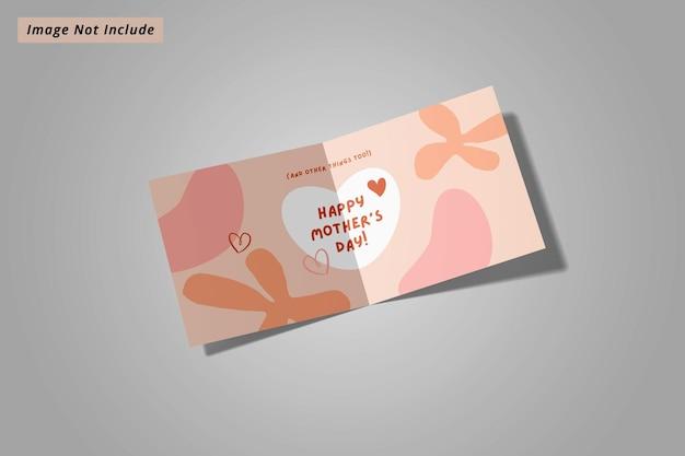 Maquete quadrada de brochura com duas dobras