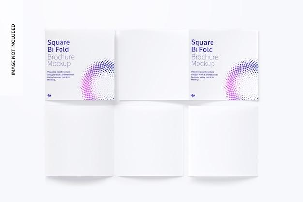 Maquete quadrada de brochura dupla Psd Premium