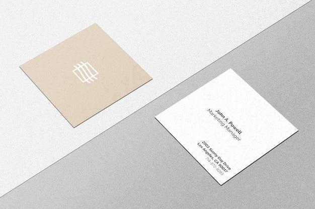 Maquete quadrada de cartão de visita