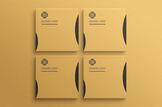 Maquete quadrada de cartão em papel texturizado