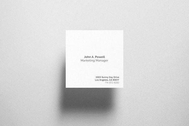 Maquete quadrada de cartão