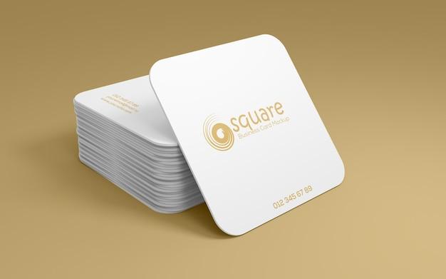 Maquete quadrada de cartões de visita