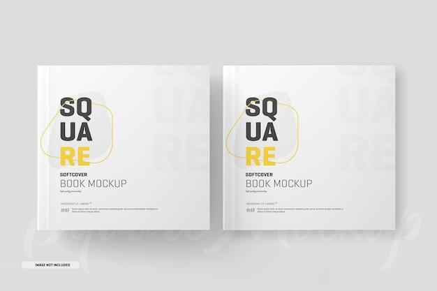 Maquete quadrada de livro de capa mole