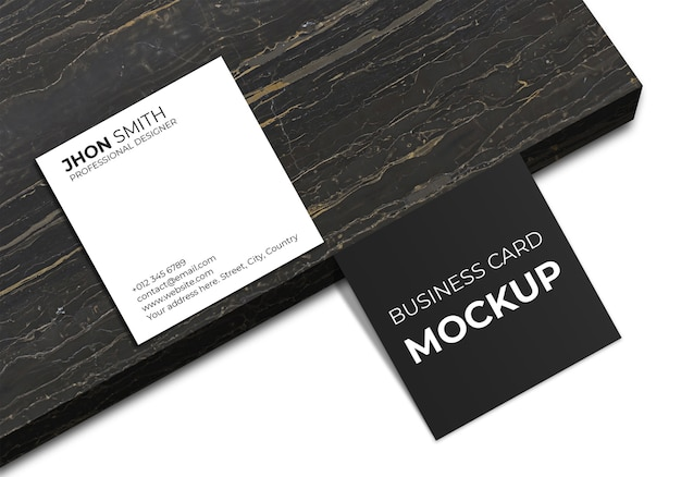 Maquete quadrada simples de cartão de visita