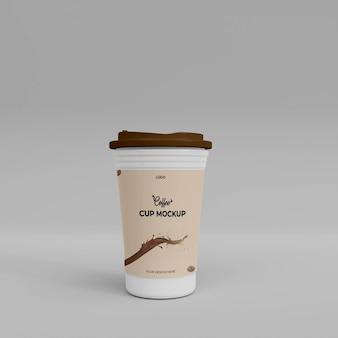 Maquete realista 3d da xícara de café