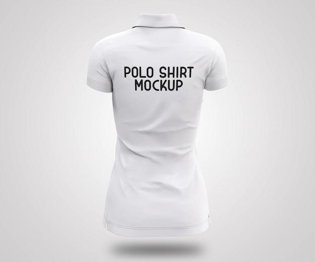 Maquete realista 3d de camisa polo branca