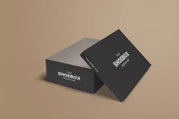 Maquete realista da caixa de sapatos