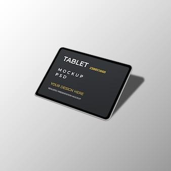 Maquete realista da interface do tablet