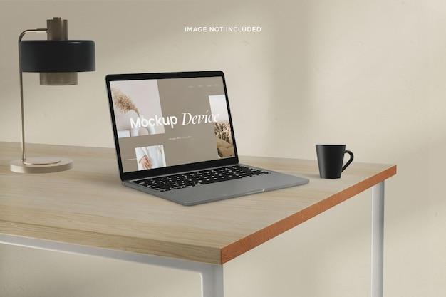 Maquete realista da tela do desktop