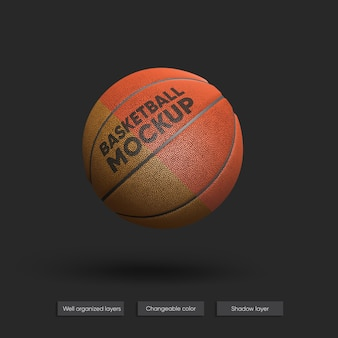 Maquete realista de bola de basquete isolada