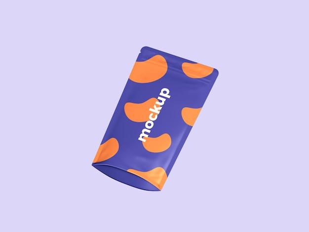 Maquete realista de bolsa em pé