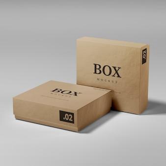Maquete realista de caixa de papelão