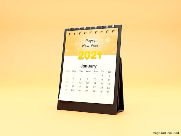Maquete realista de calendário de mesa em pé