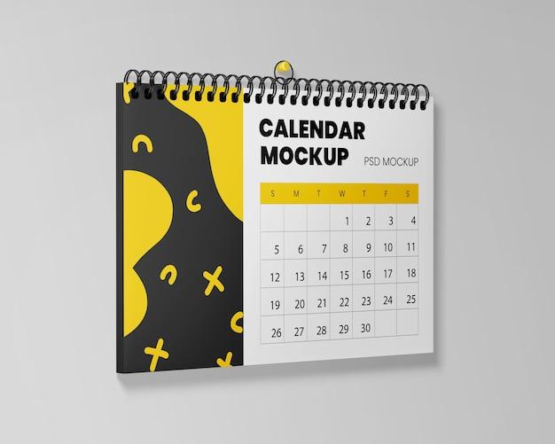 Maquete realista de calendário suspenso
