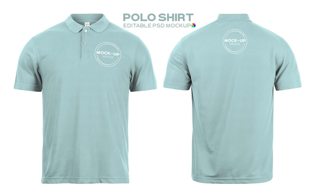 Maquete realista de camisa polo