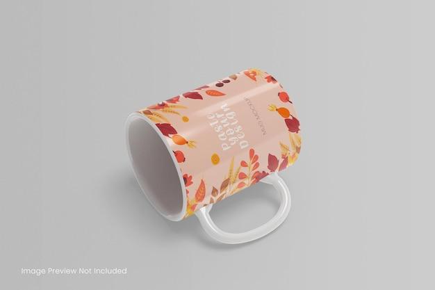 Maquete realista de caneca de café