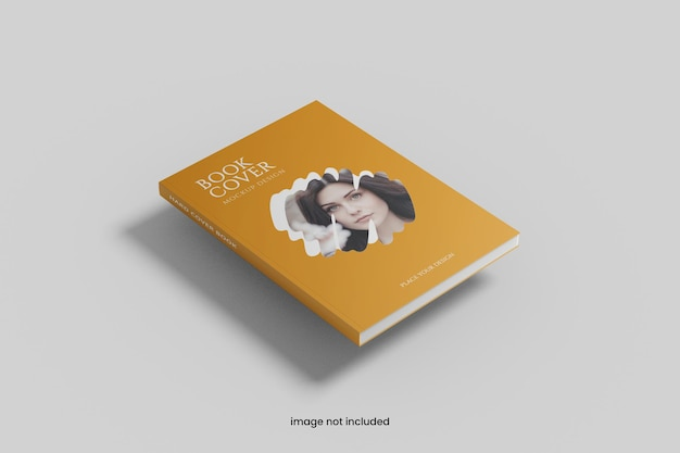 Maquete realista de capa de livro a4
