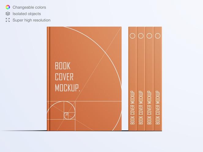 Maquete realista de capa dura do livro