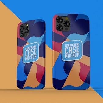 Maquete realista de capa para smartphone